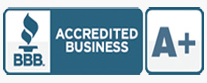 A+ rating badge from the Better Business Bureau