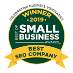 Award for the Best of Business 2019 for Best SEO Company