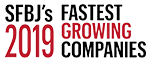 South Florida Business Journals's 2019 Fastest Growing Companies badge