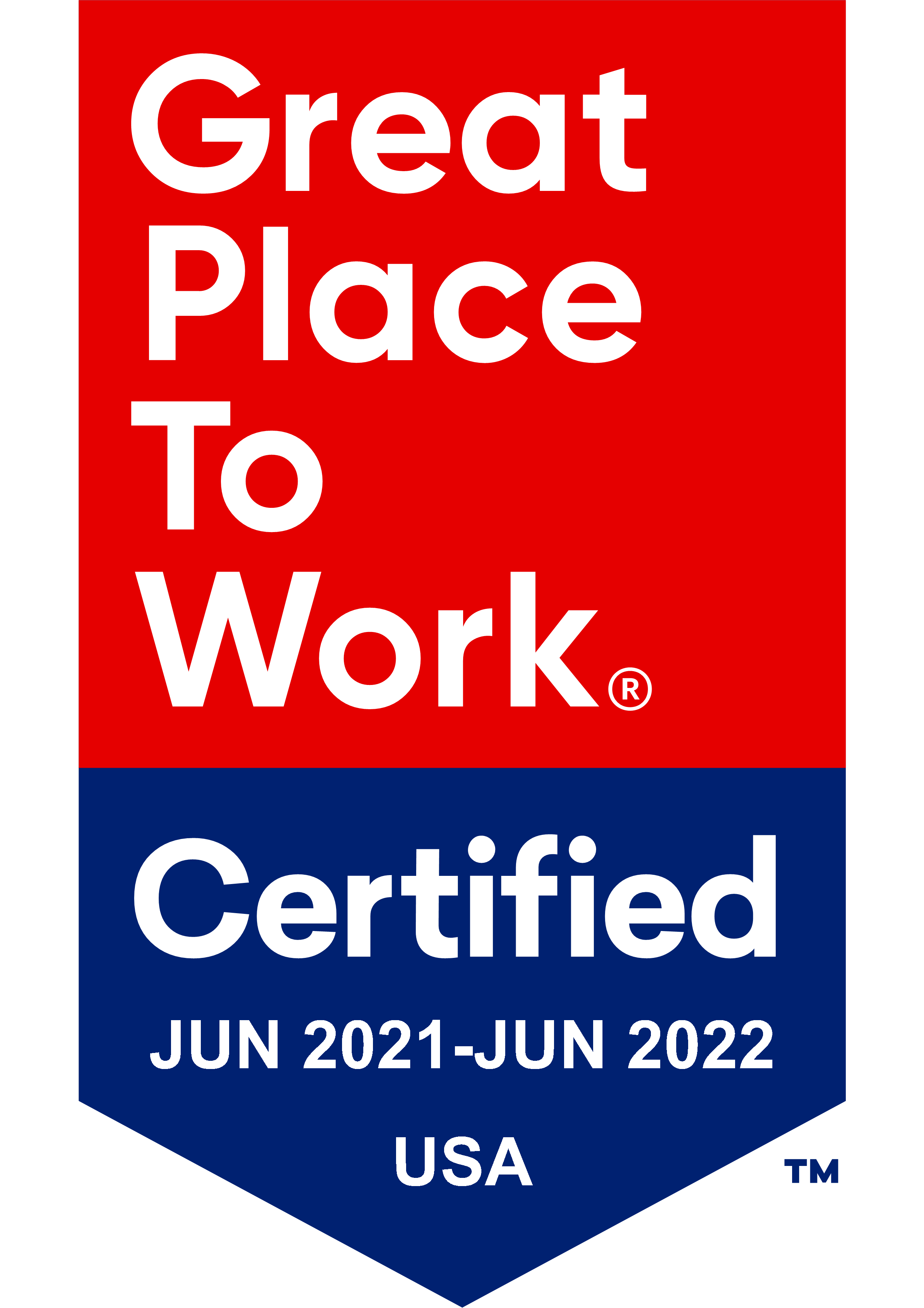 Badge f Digital Resource's Certified Great Place to Work Award for 2021