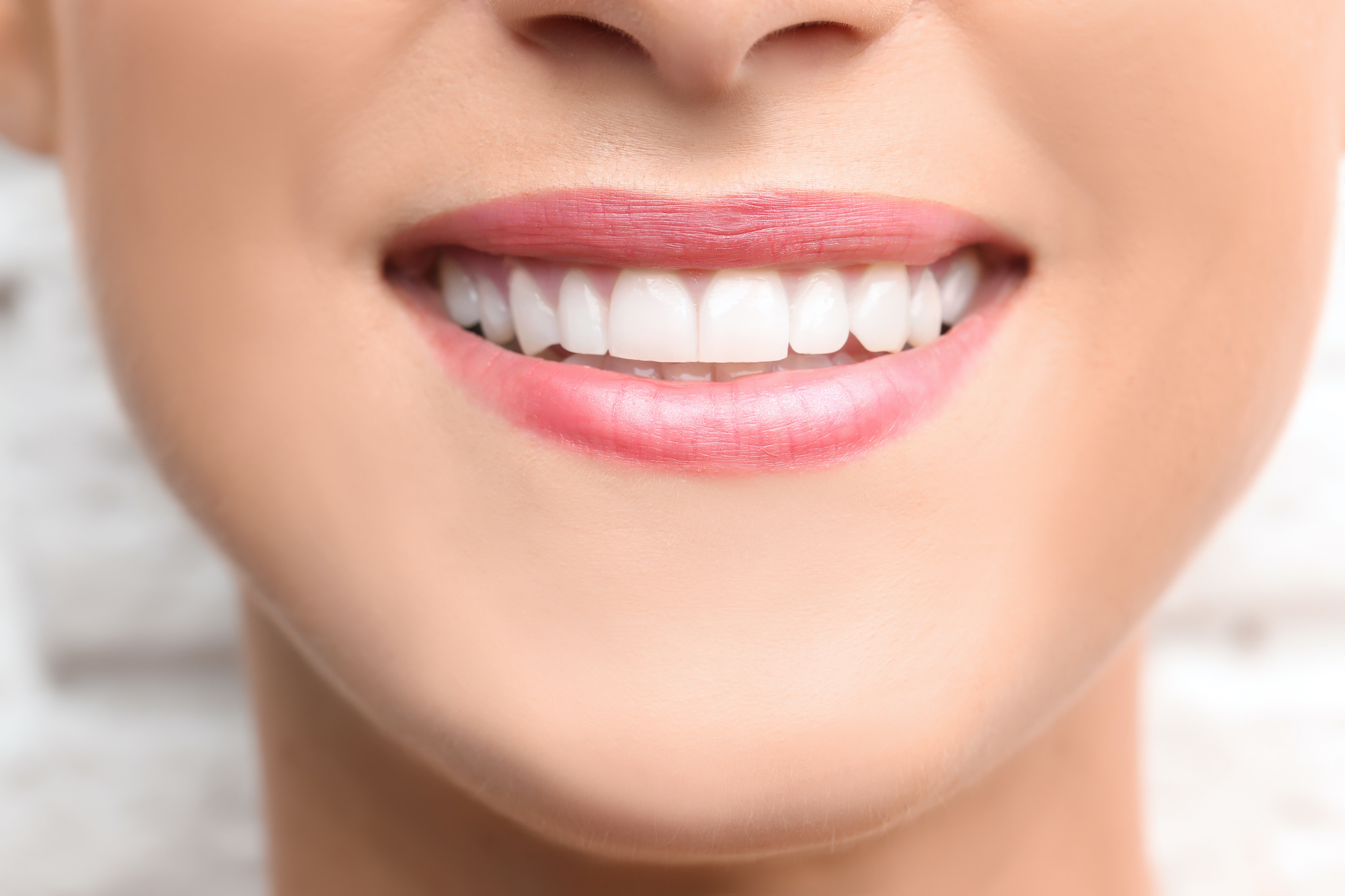 close up of teeth smiling
