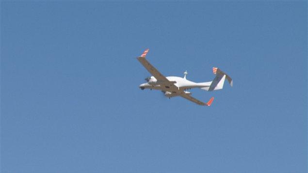 Un drone en vol à Alma
