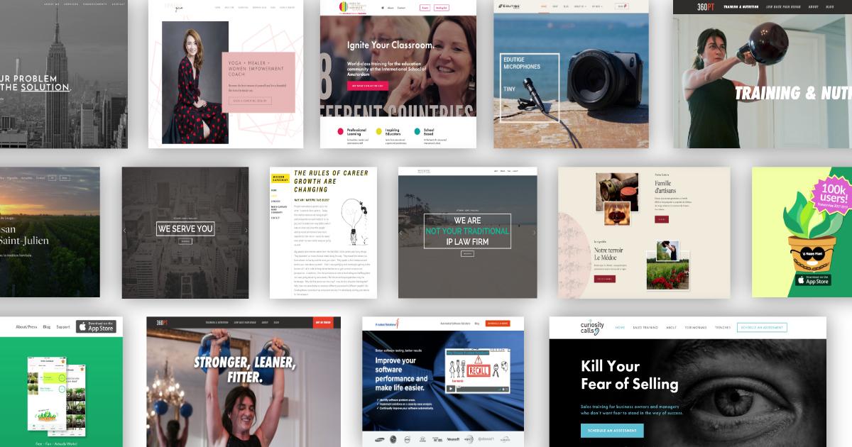 website portfolio examples