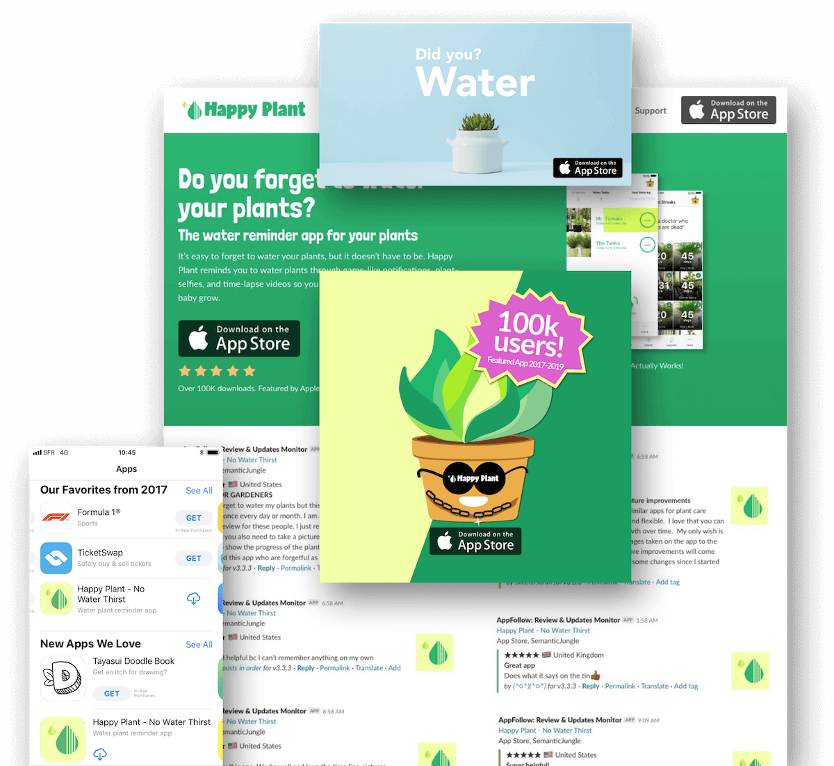 happy plant water app screenshots
