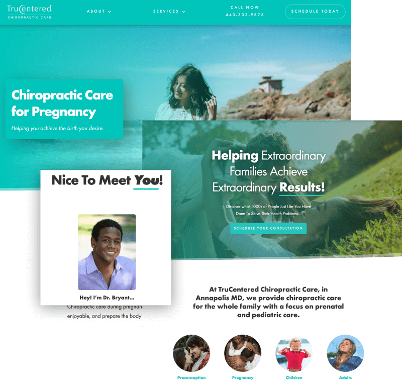 chiropractor Webflow website screenshot