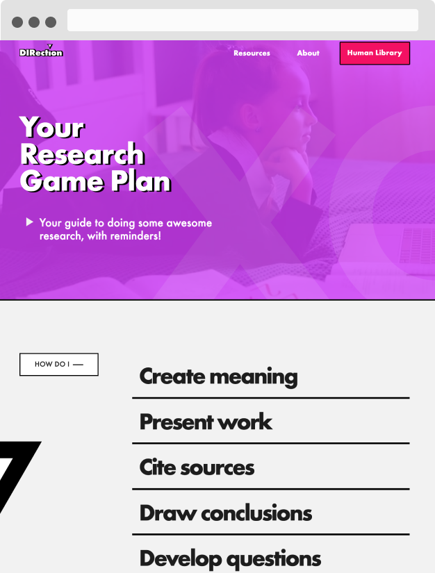 website screenshot research university