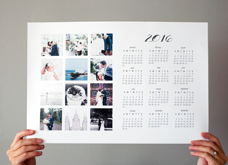 Single Page Full Year Calendars