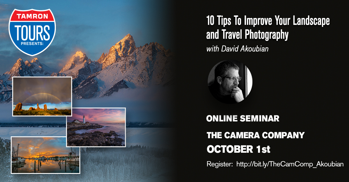 10 Tips to Improve Landscape and Travel Photography with David Akoubian