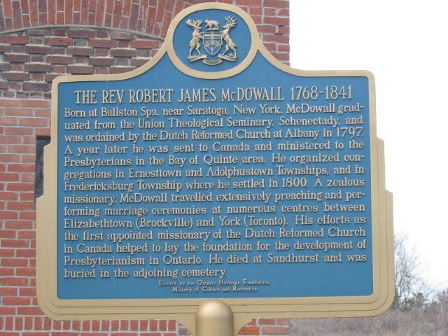The Reverend Robert James McDowall 1768-1841