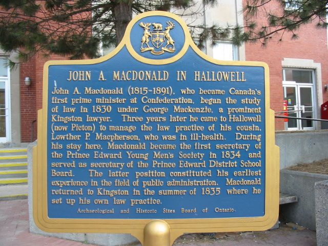 John A. Macdonald in Hallowell