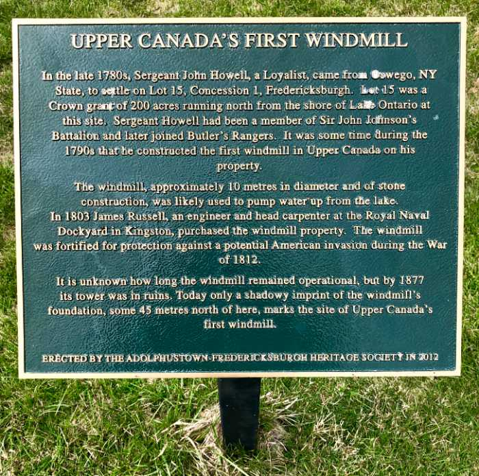 First Windmill in Upper Canada