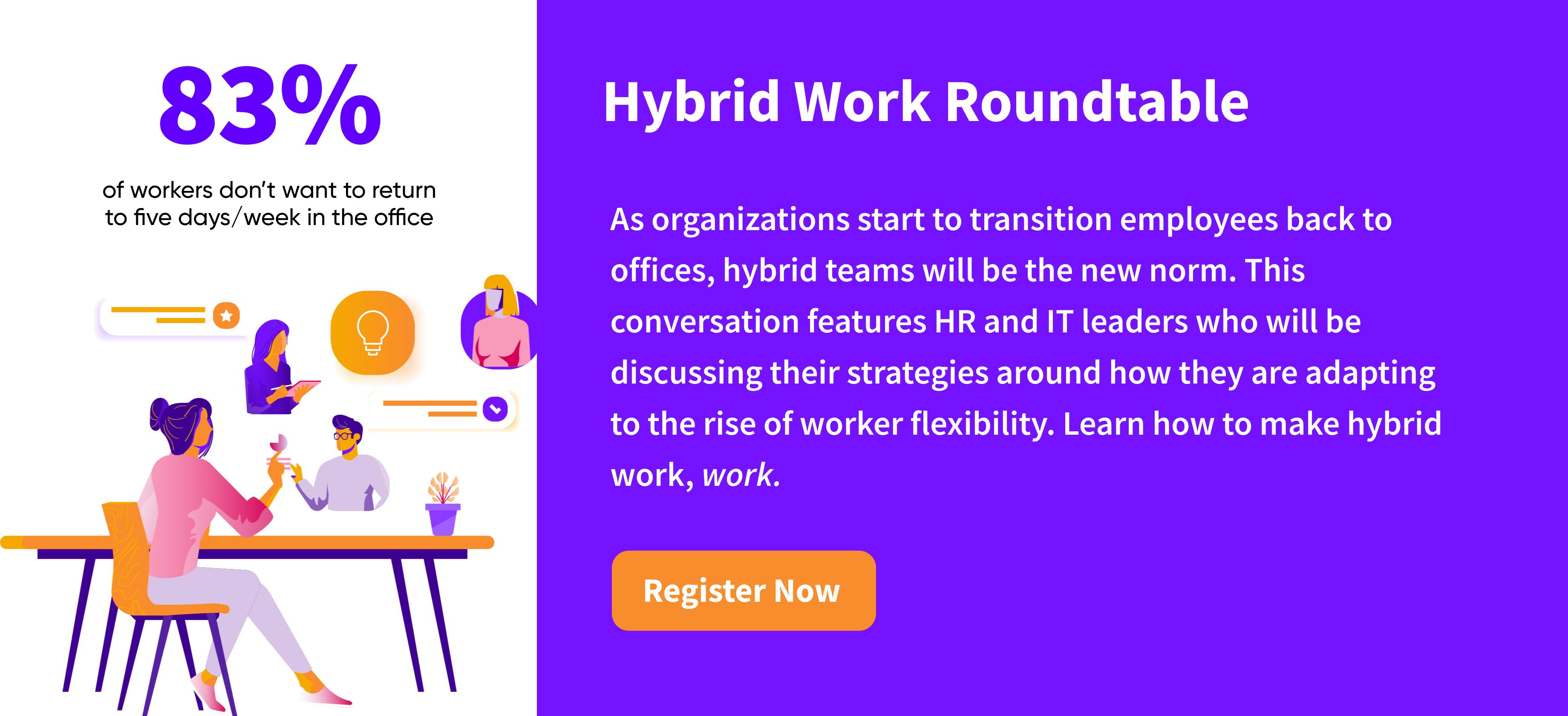 Register for hybrid work webinar