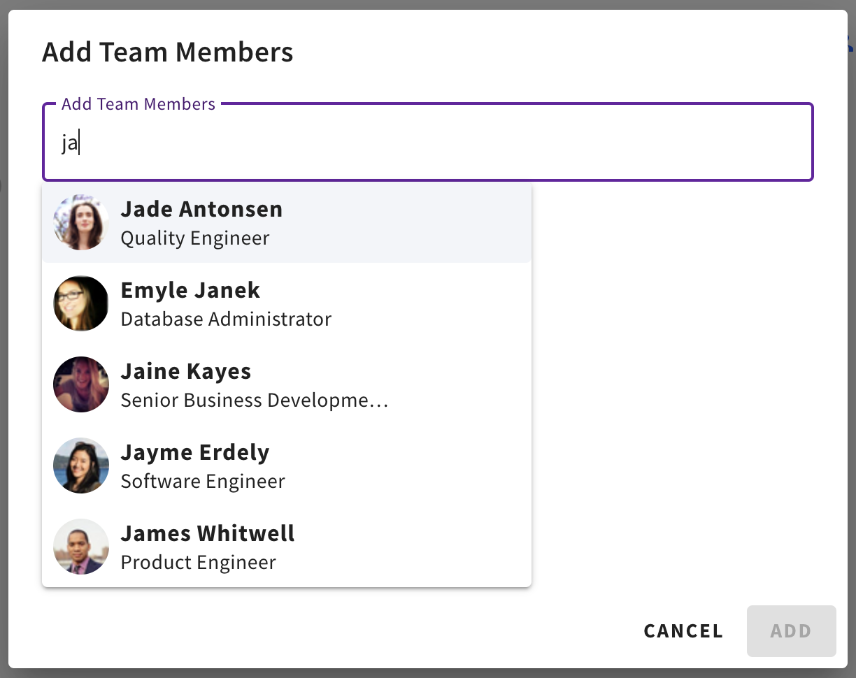 Adding team members to Sift Lists