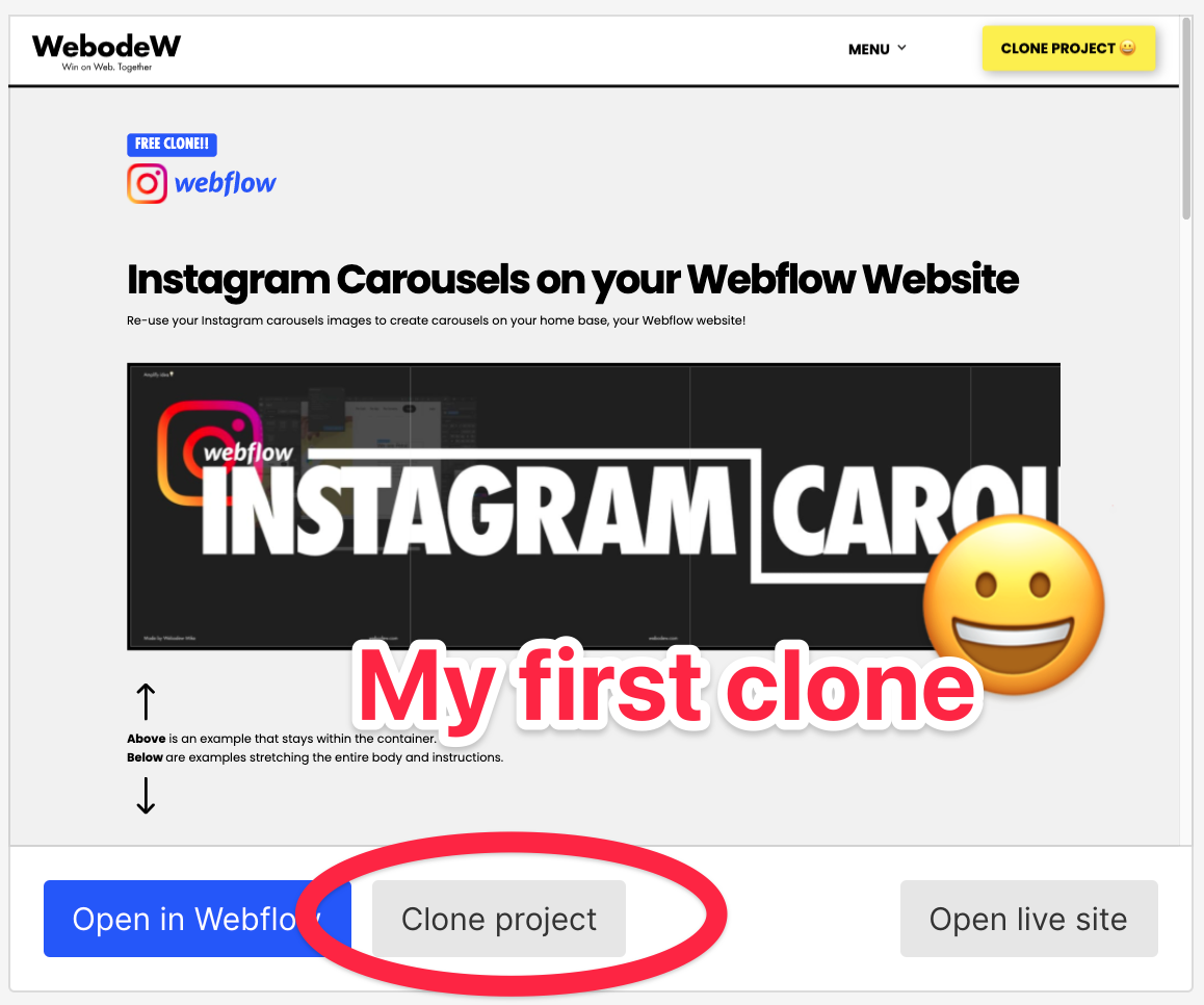 Put Instagram Carousels on Your Webflow Website - FREE CLONE