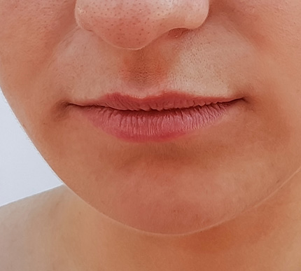 close-up of a woman's lips