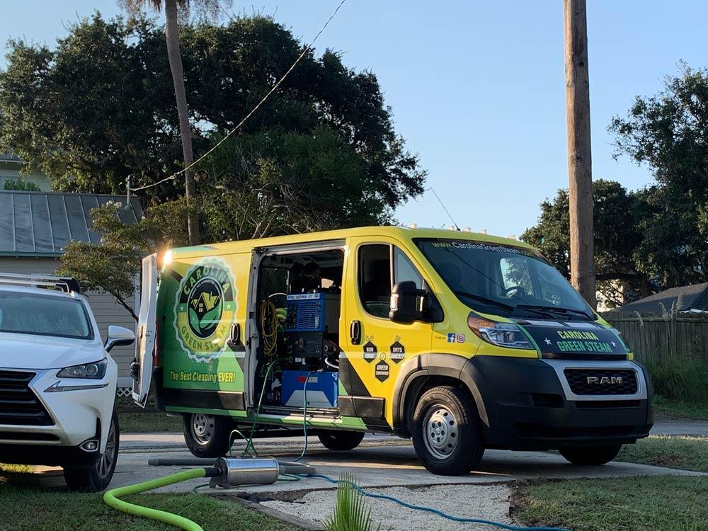 carolina green steam van
