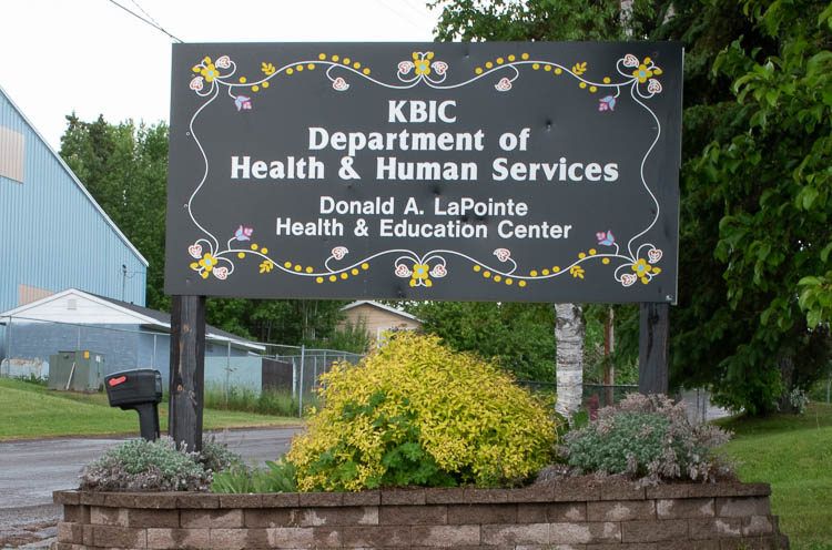 KBIC Depart of Health & Human Services sign