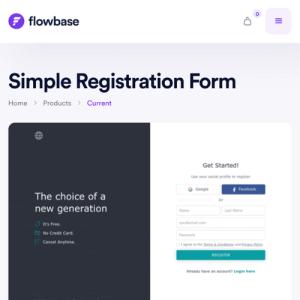 showcased project on flowbase