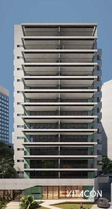 Modelo 3D do edifício VN Alvorada