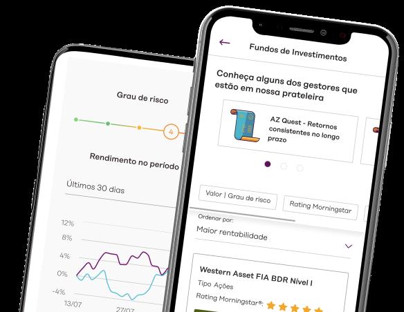 Celular com aplicativo easynvest