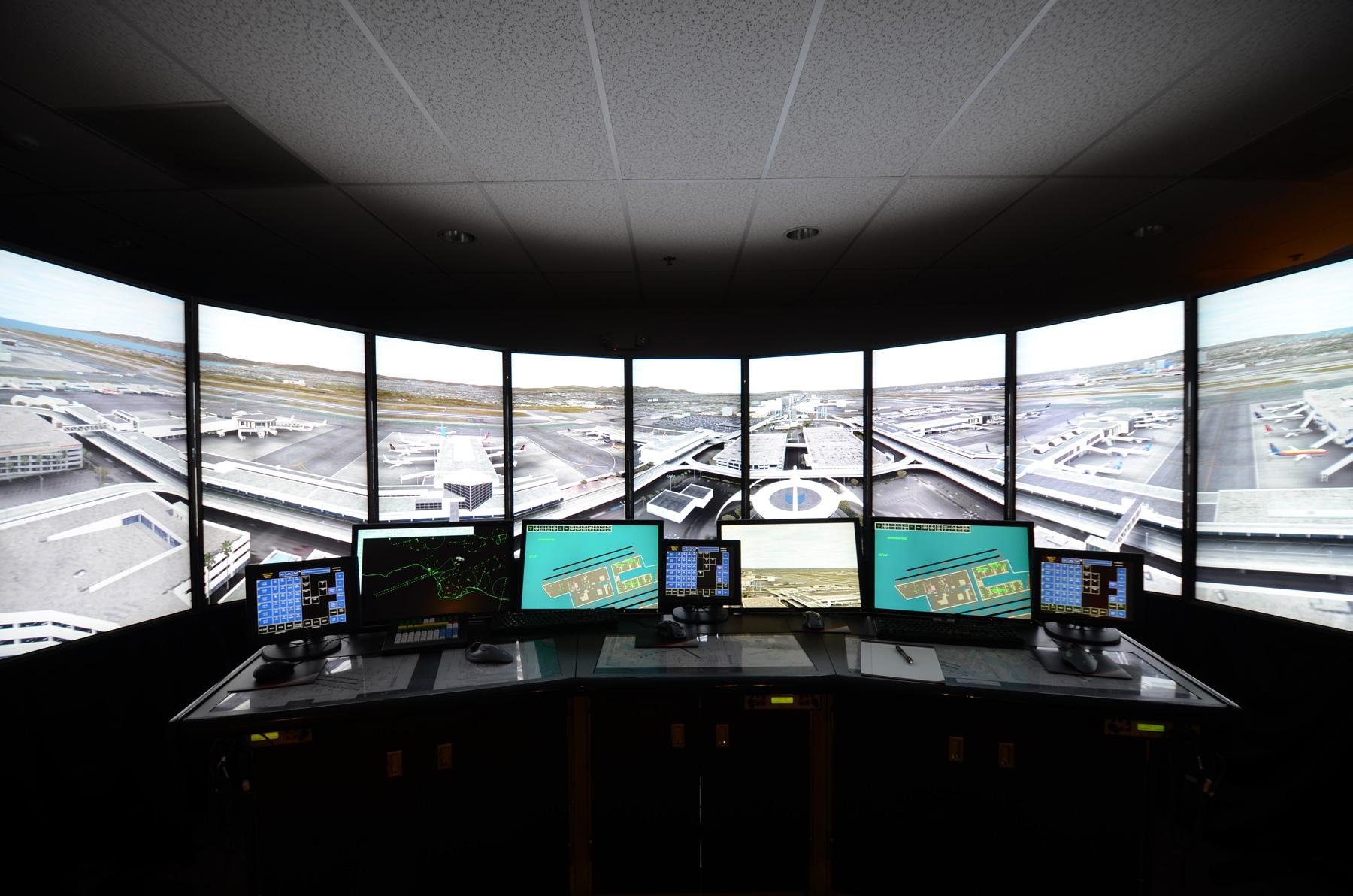 MaxSim ATC photo-like representation of airport