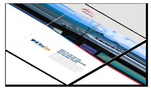 MaxSim ATC simulation training brochure