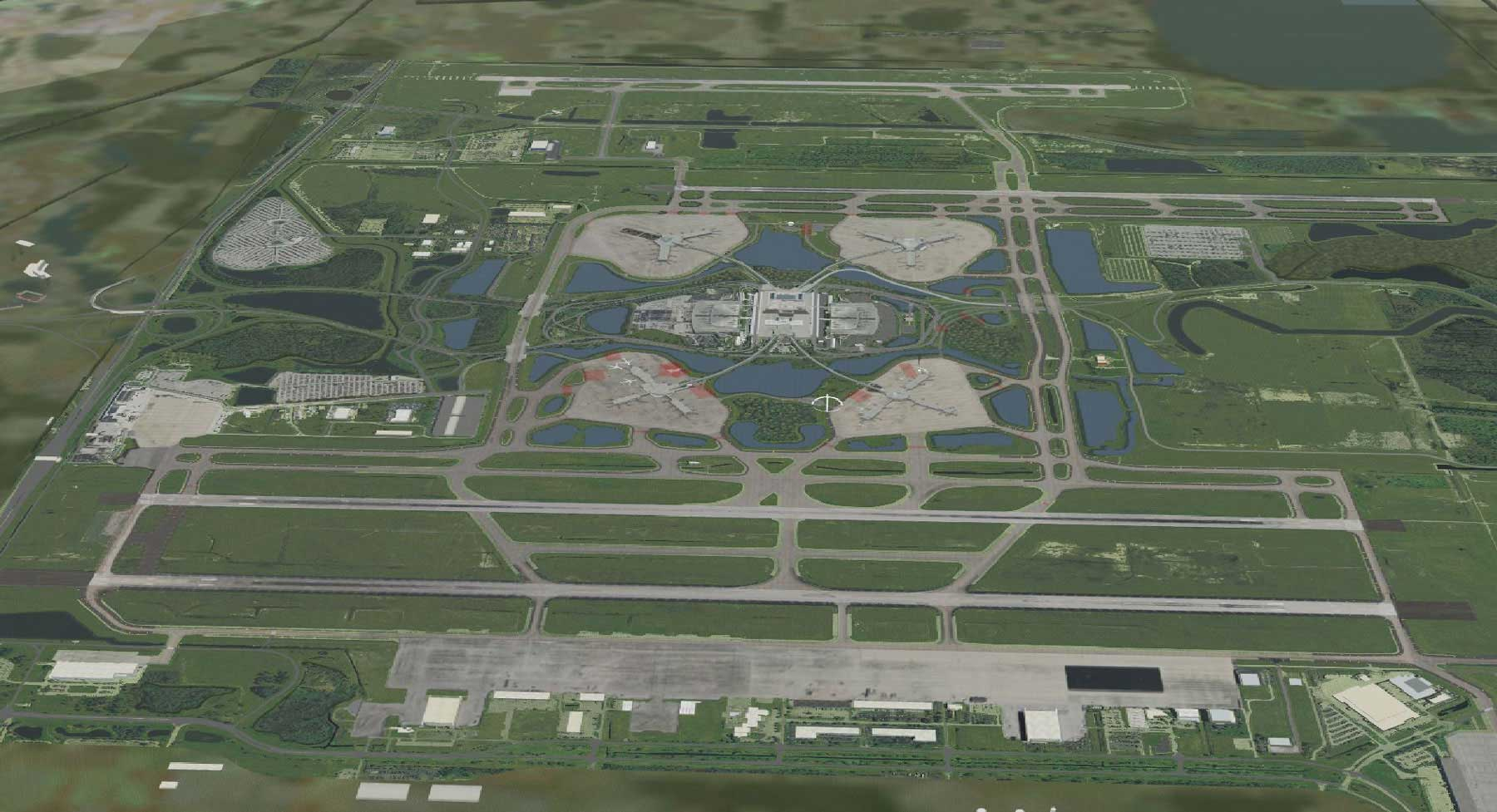 Driving simulation - airport grounds