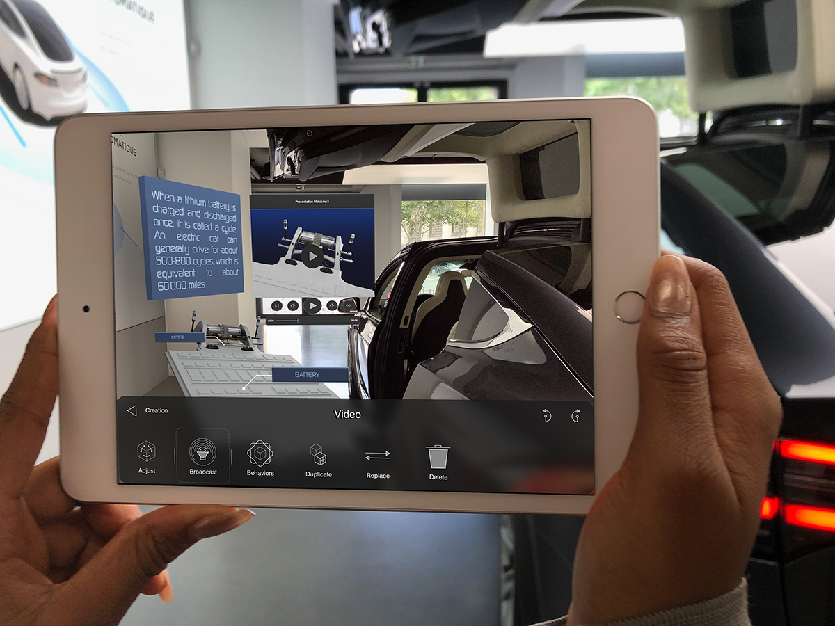 Car Shopping in Store with AR