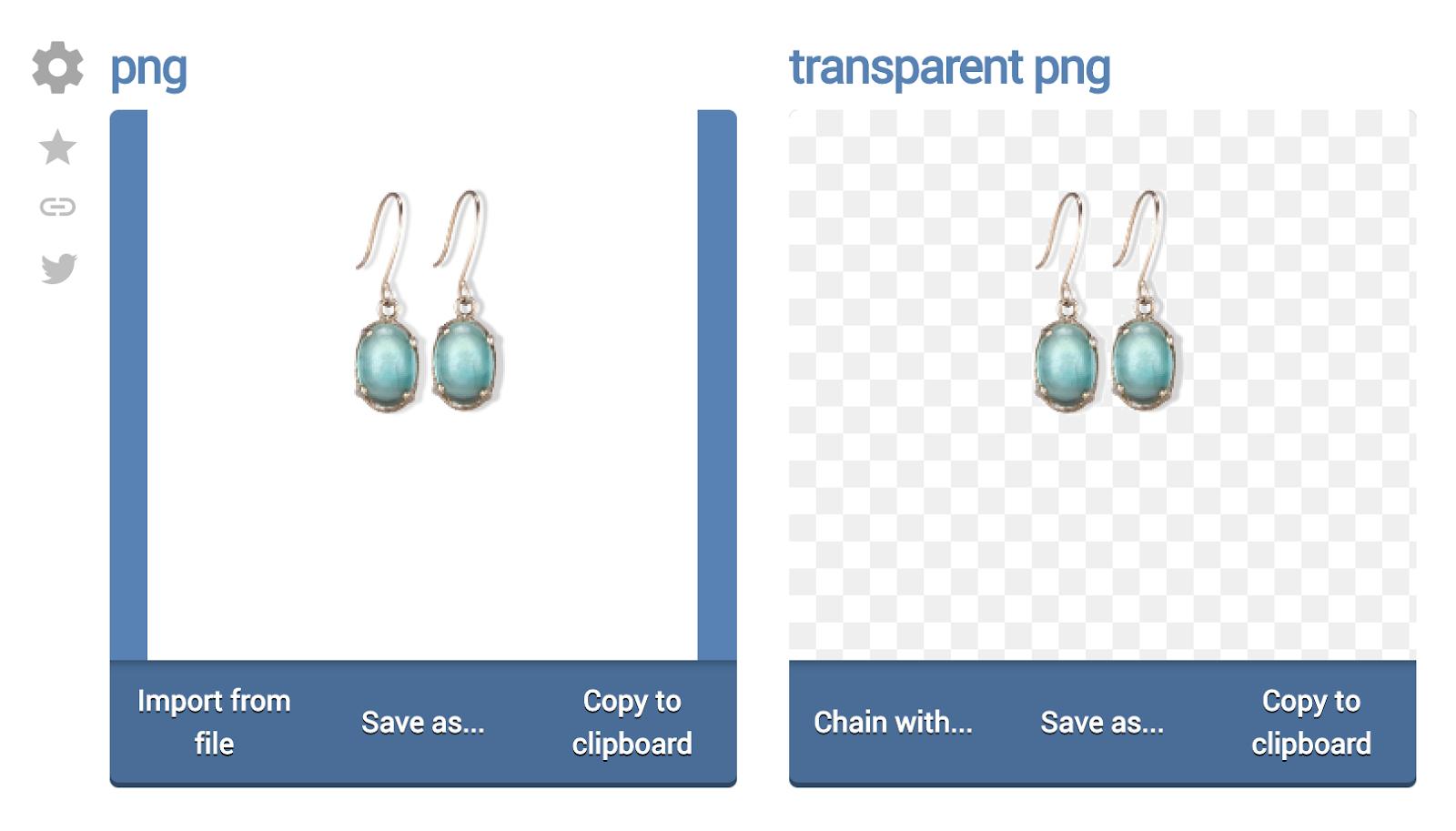 Transparent Earrings