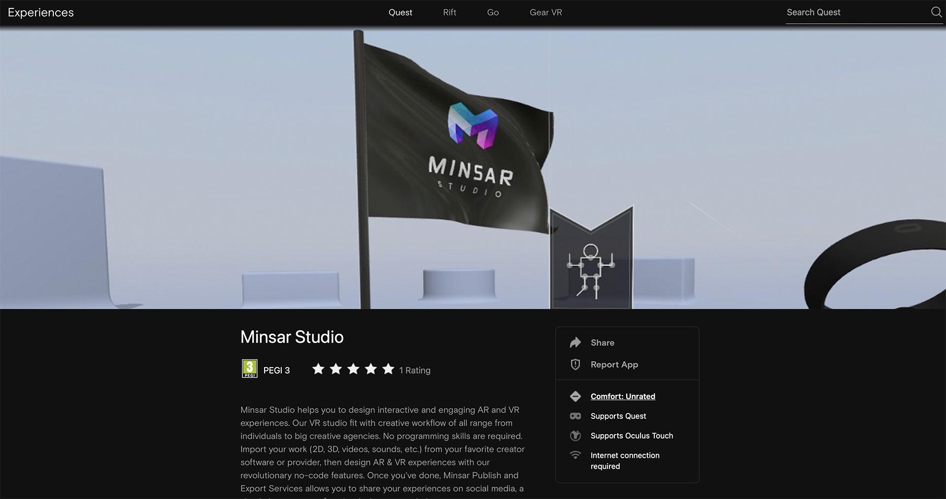 Minsar Studio is now on Oculus App Lab!