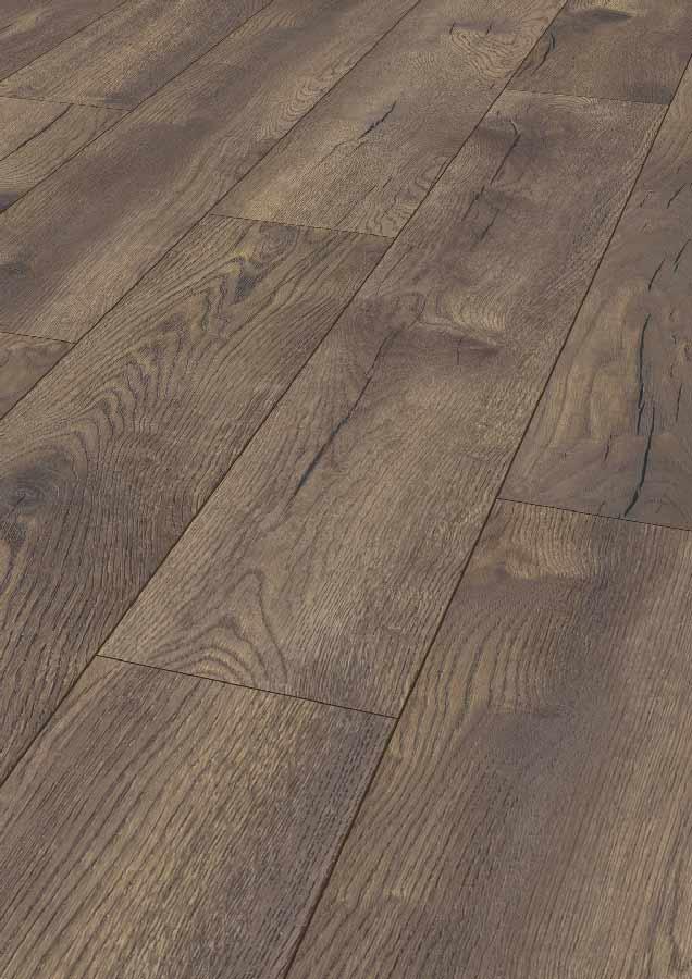 Laminatboden – Pettersson Eiche dunkel – Schwedisches Korkeichenholz – Muster bestellen!