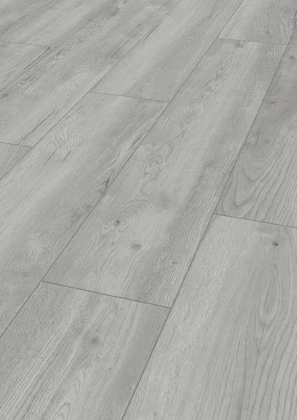 Laminatboden – Pettersson Eiche hellgrau – Schwedisches Steineichenholz – Muster bestellen!