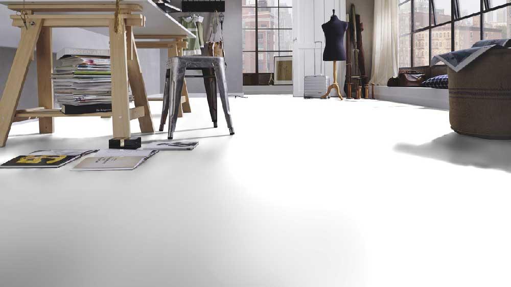 Laminatboden – Marilyn – Weißer glänzender Boden – Muster bestellen!
