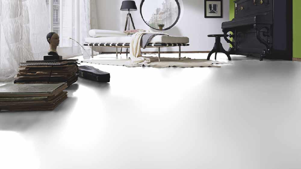 Laminatboden – Marilyn – Endlos weißer, mattierter Boden – Muster bestellen!