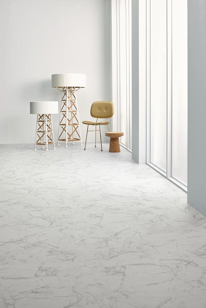 Vinylboden White Marble – Pflegeleicht: Vinyl mit Marmor Optik, weiß – Jetzt kostenloses Muster bestellen!