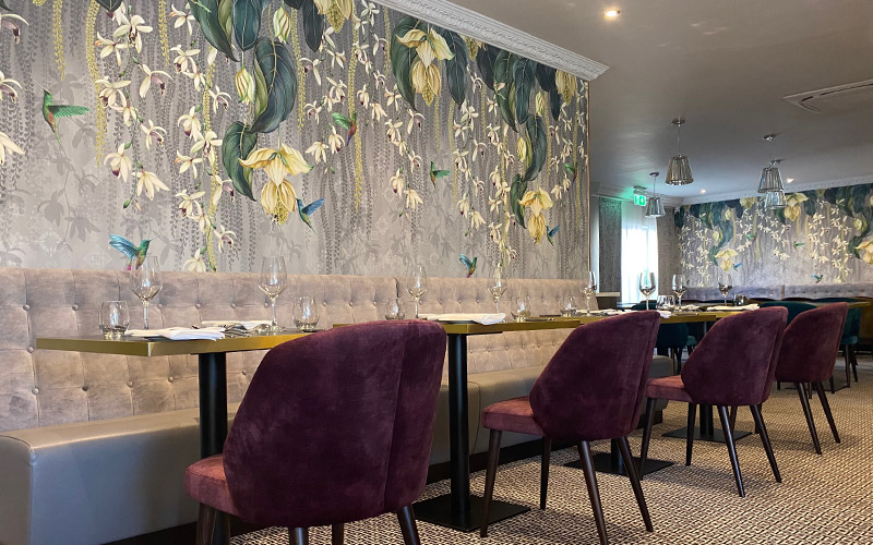 Comfortable dining seating in the Hotel Collingwood Gold Room Restaurant