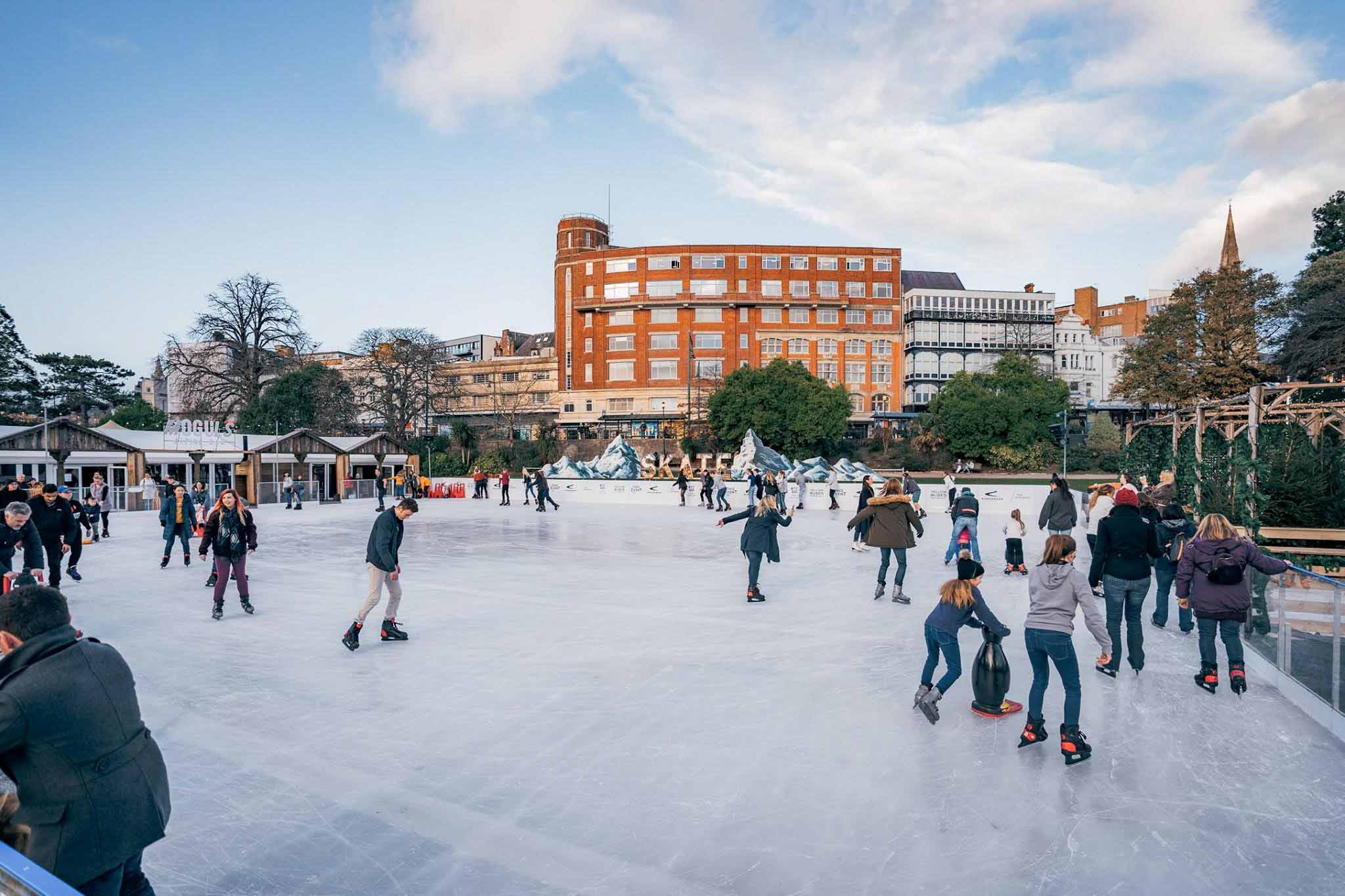 Skate Ice Rink in the Bournemouth Lower Gardens