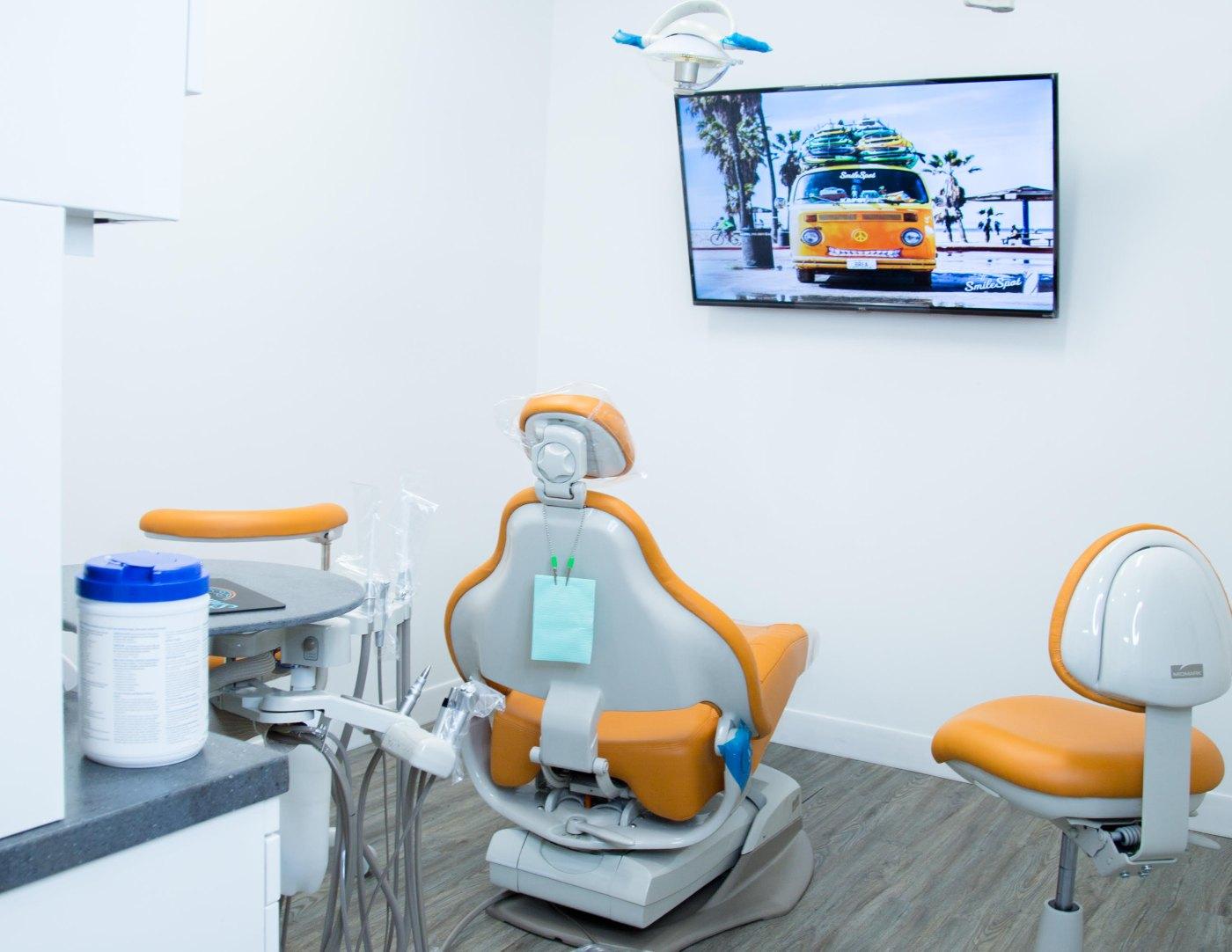 closeup of dental instrument