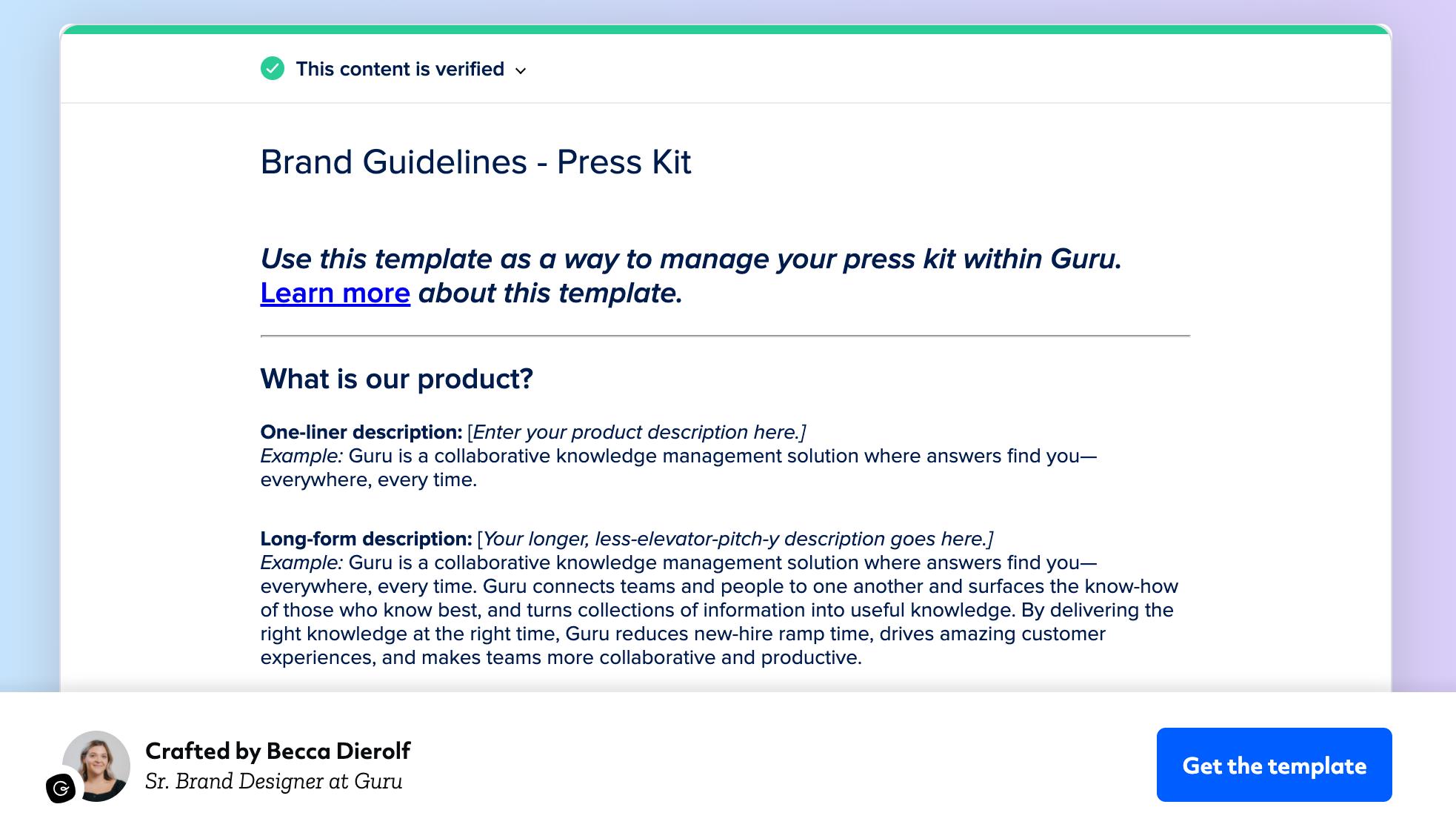 Brand Guidelines - Press Kit