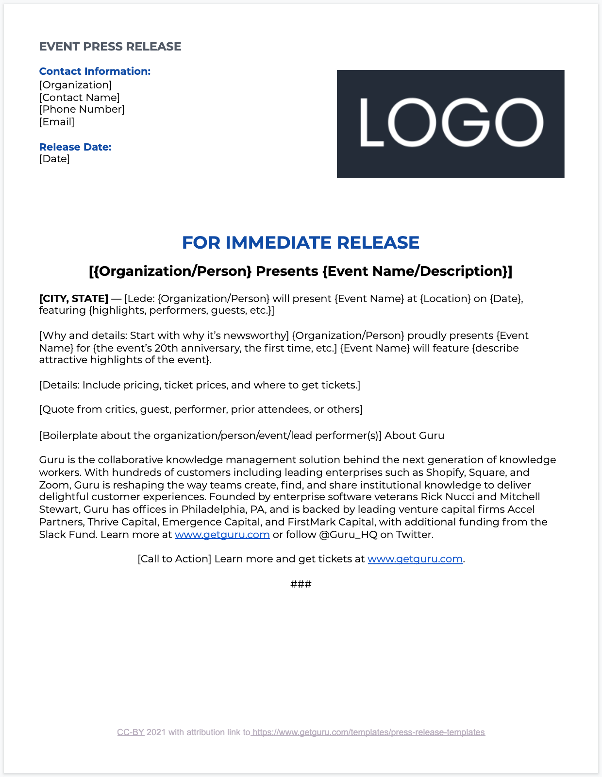 Event Press Release Overview