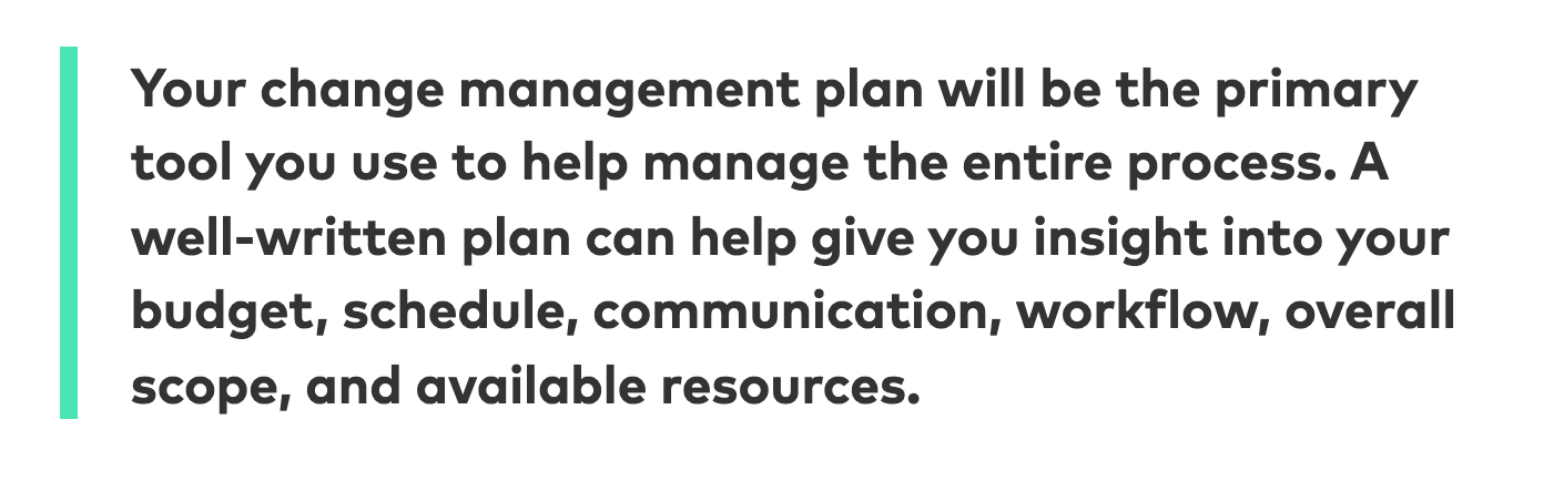Why Your Change Needs a Plan
