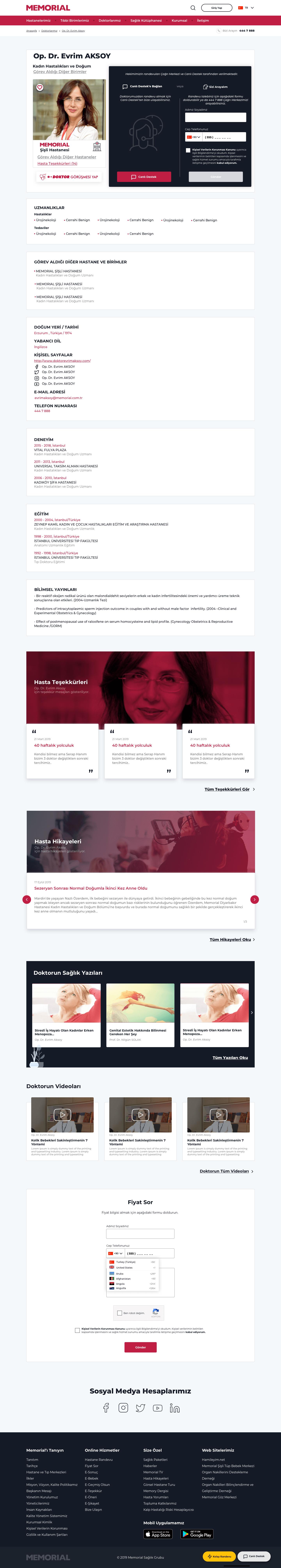 memorial website mockup