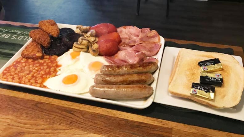 London Calling! fantastic breakfasts in Rugby