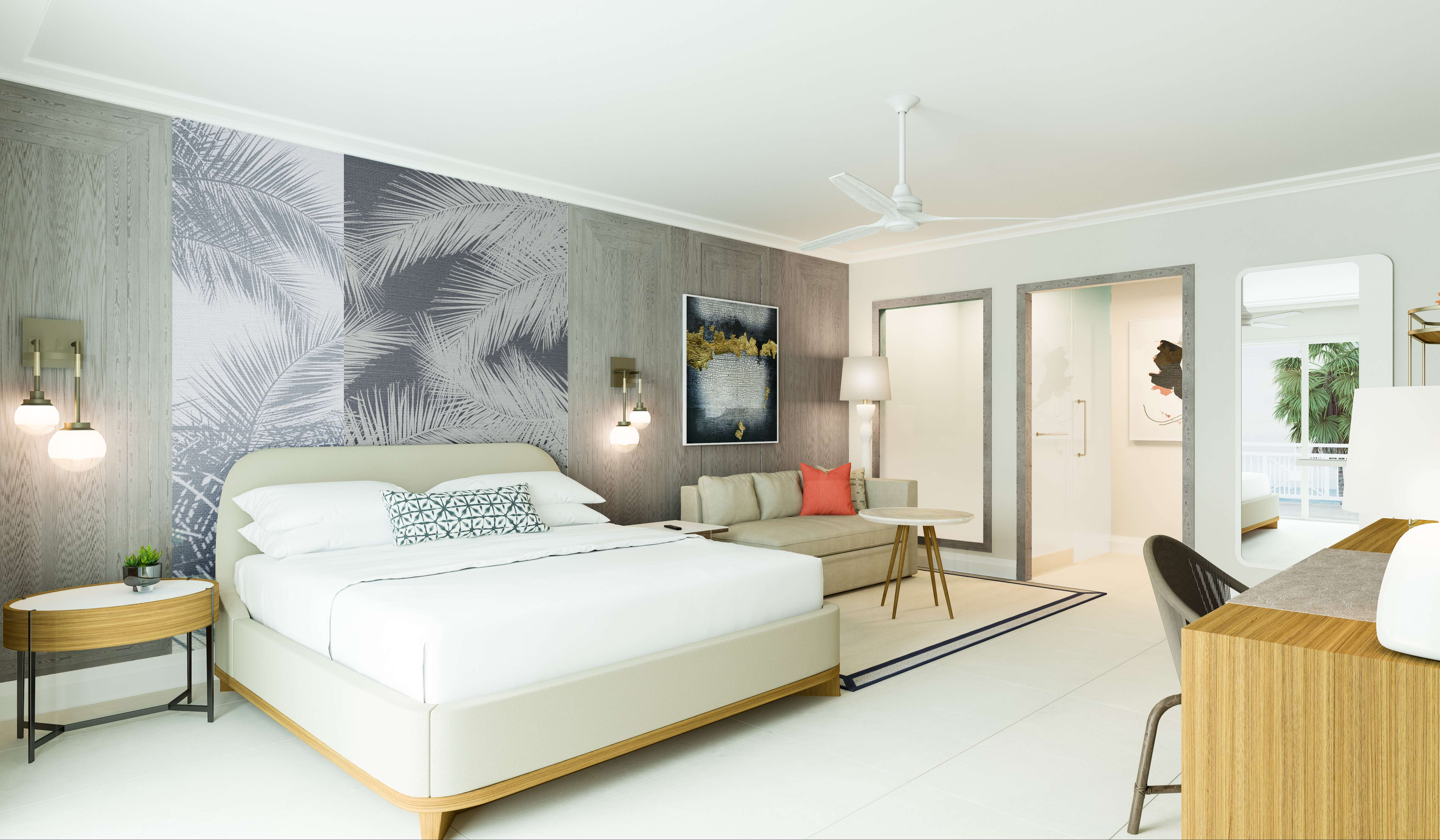 A large one bedroom suite at Noni Beach Resort in St. Thomas
