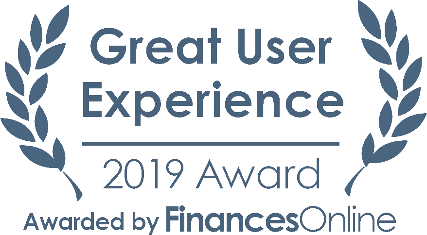 Great User Experience 2019 Award (awarded by FinancesOnline)