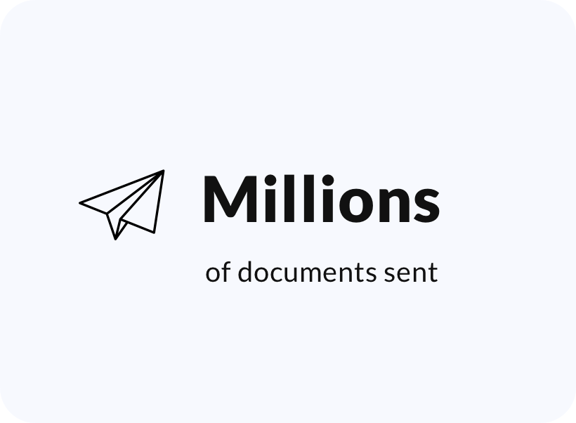 Millions of documents sent