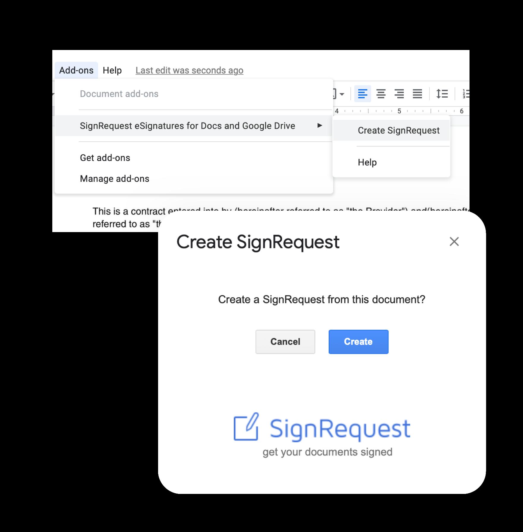 sign a google doc