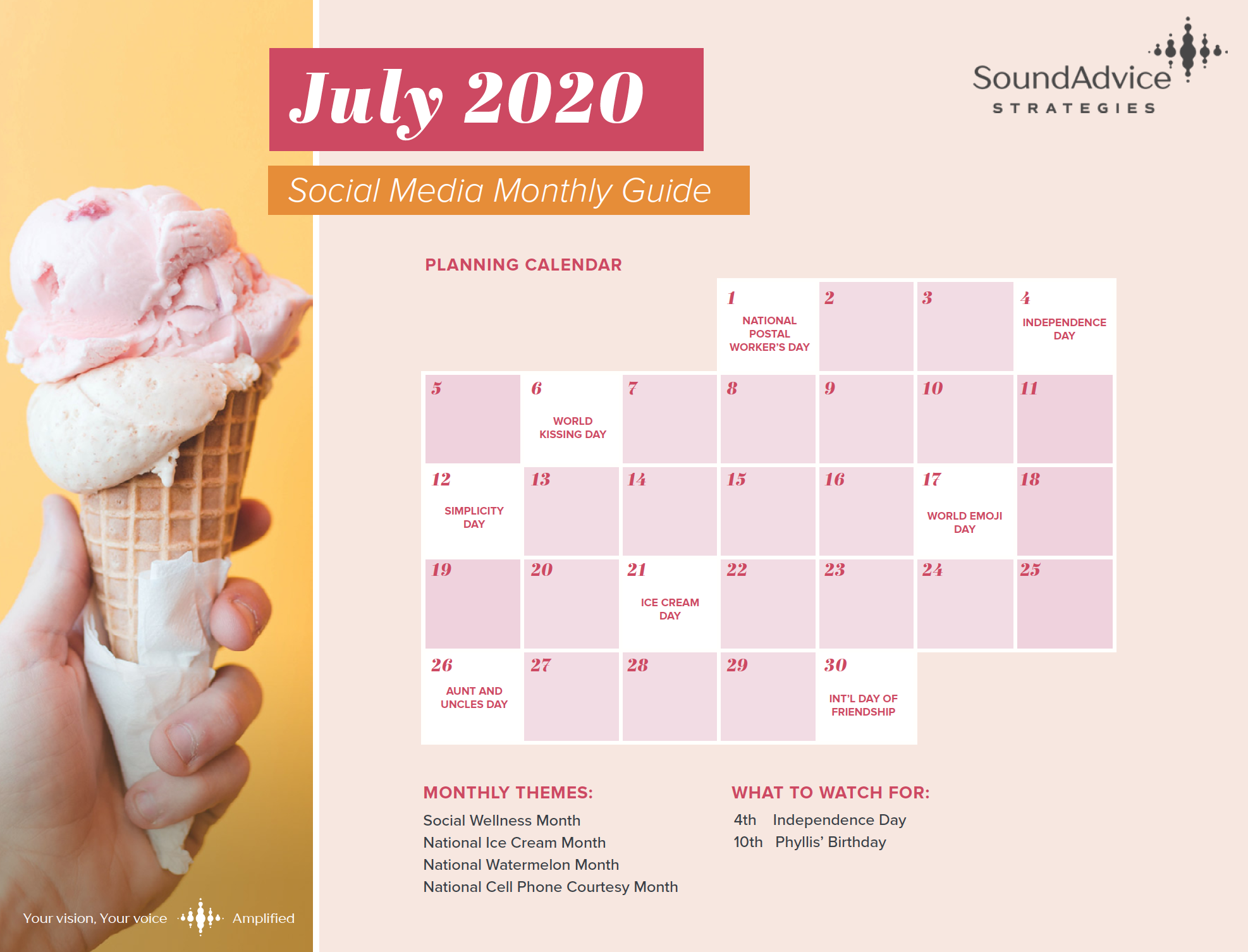 Highlights from the July Content Calendar