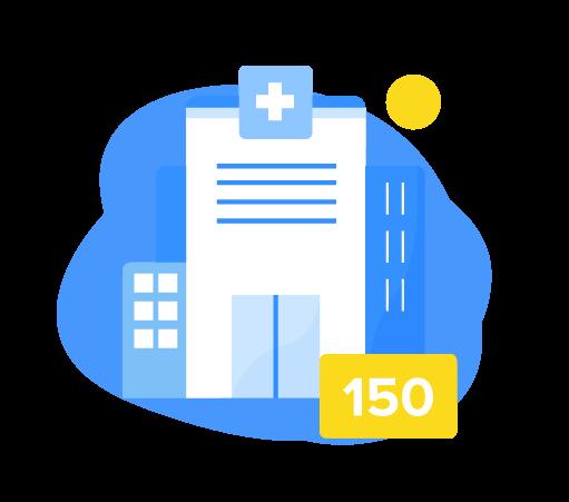 ilustracion de un hospital