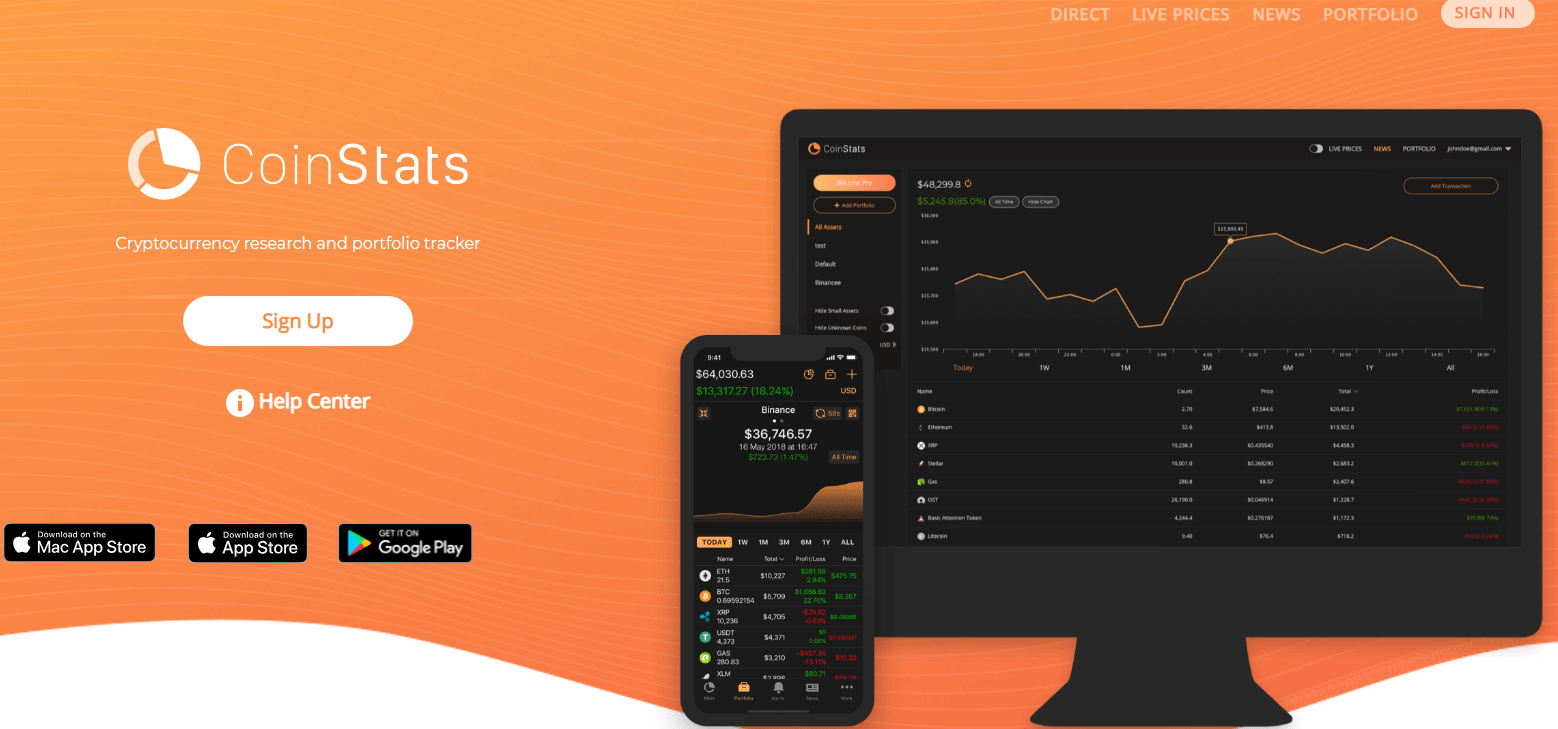 coin stats crypto app